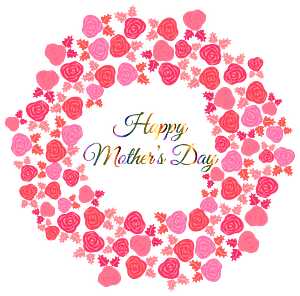 Happy Mothers Day Bouquet of Flowers clipart