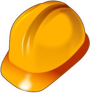 Yellow Safety Hard Hat clipart