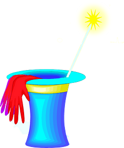 Hat and Wand clipart