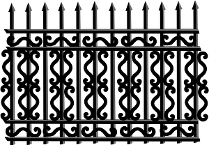 Iron Fence clipart