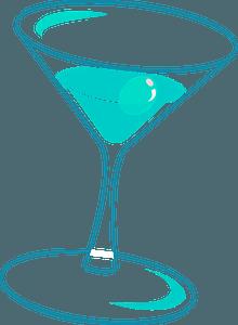 Happy Hour Martini Glass clipart