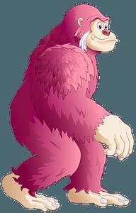 Pink King Kong clipart