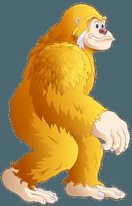 Yellow King Kong clipart