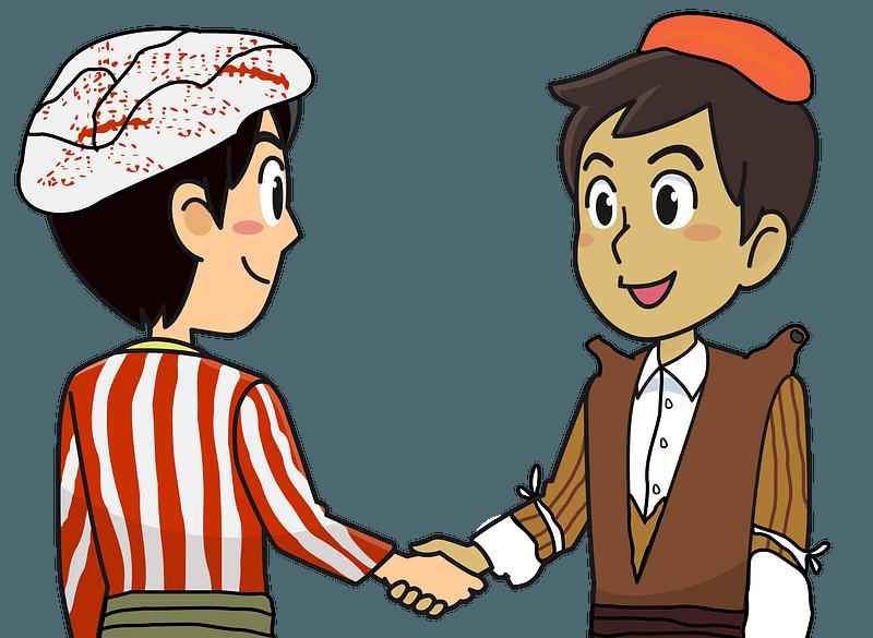 Kurdish Handshake clipart