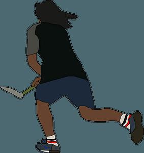 Field hockey Player clipart