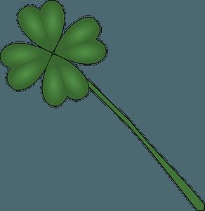 Four Leaf Clover on the Stem clipart