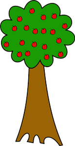 Tree with Red Apples clipart