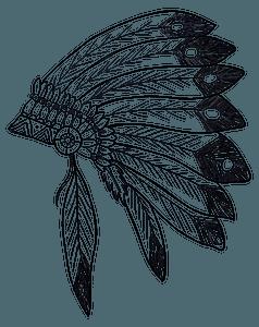 Native American Headdress - Black and White clipart
