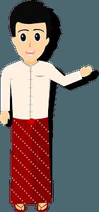 Native Myanmar Man clipart