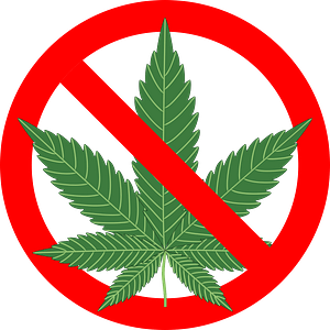 No Marijuana Sign clipart