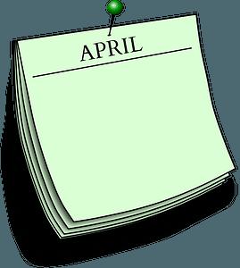 Note April clipart