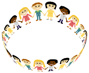 People Holding Hands in a Circle clipart