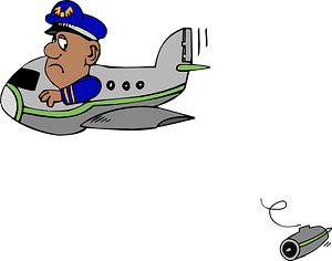 Ooops - Engine Fell Off the Plane clipart