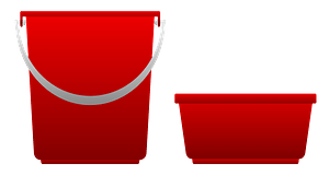 Two Red Buckets clipart