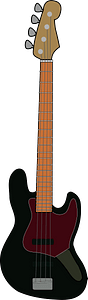 Fender Jazz Bass - Black clipart