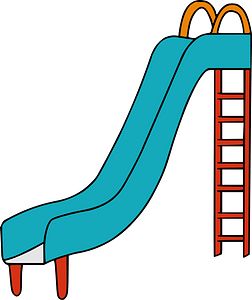 Blue and Red Playground Slide clipart