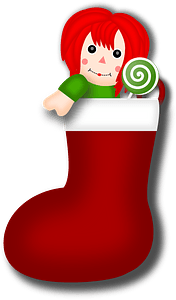 Rag Doll Stocking clipart