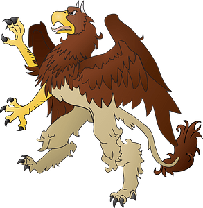 Rampant Griffin clipart