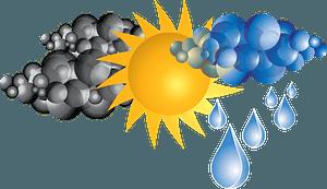 Weather - Dark Clouds, Sun, Rainy Clouds clipart
