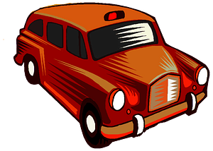 Red Taxi Cab clipart