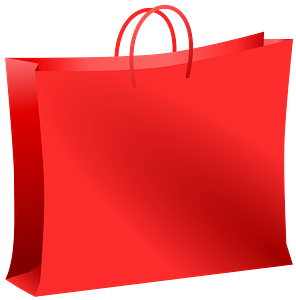 Red Bag for Shopping clipart