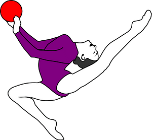 Rhythmic Gymnastics Ball clipart
