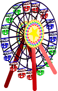 Ferris Wheel in Color clipart