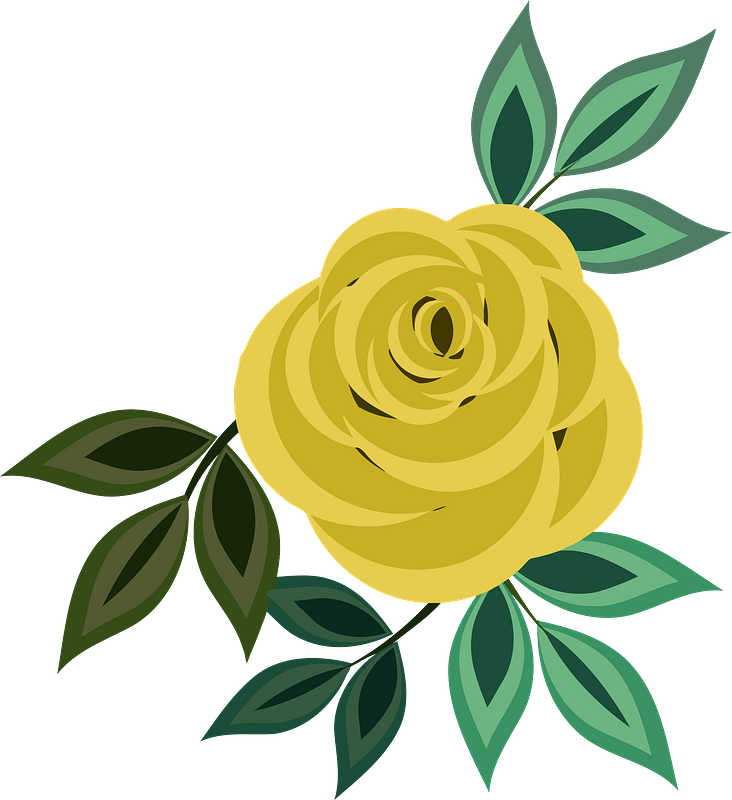 Yellow Rose Flower with Leaves PNG Clipart | Gallery Yopriceville -  High-Quality Images and Transparent PNG Free Clipart