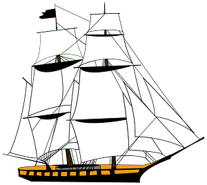 Sailing Ship White clipart