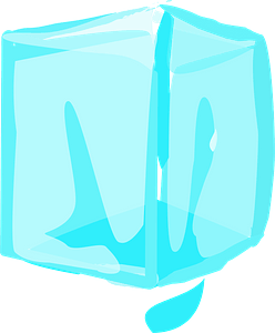 Ice Cube Dripping clipart