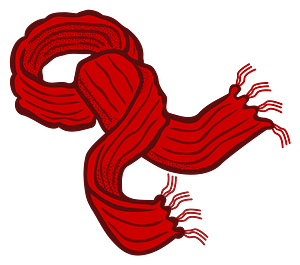 Red Scarf clipart