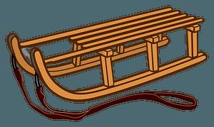 Toboggan Sled clipart