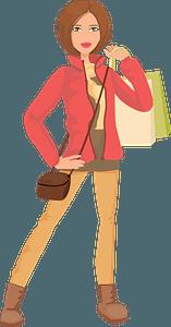 Shopping Woman clipart
