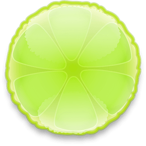 Slice of Lime clipart