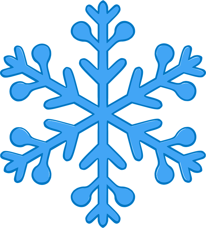 Simple Snowflake clipart. Free download transparent .PNG | Creazilla