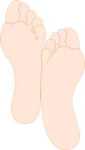Soles of Crossed Feet clipart