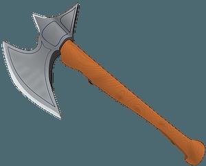 Battle Axe Medieval clipart