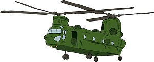 Chinook Transport Helicopter clipart