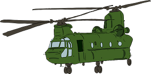 Chinook Helicopter clipart