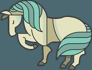 Stylized Cartoon Horse clipart