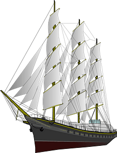 Amber-in-the-Dark Sailing Ship clipart