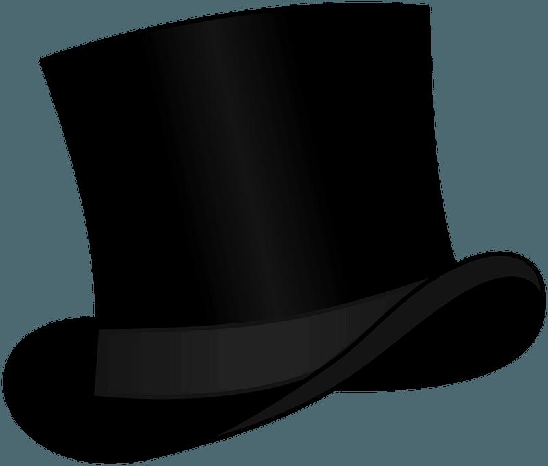 Top Hat Black clipart. Free download transparent .PNG | Creazilla