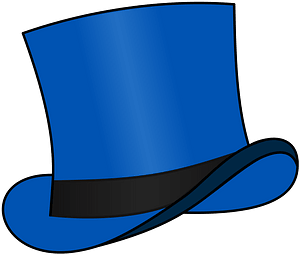 Top Hat Blue clipart