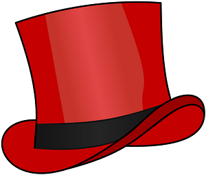 Top Hat Red clipart