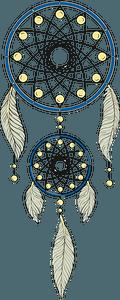 Traditional Dreamcatcher clipart
