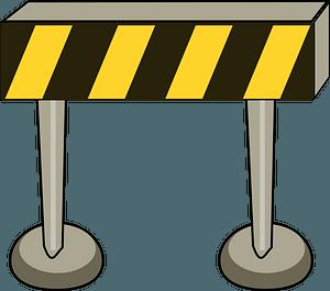 Traffic Barrier clipart