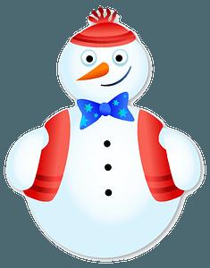 Upbeat Snow Man clipart
