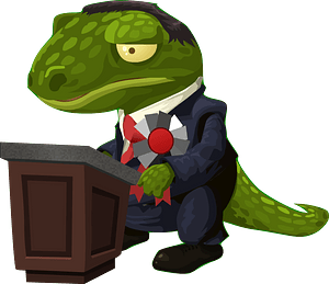 Very Important Lizard clipart