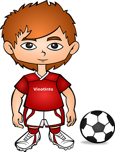 Venezuela Soccer Player clipart