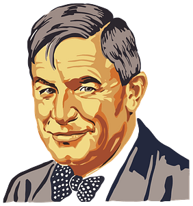 Vintage Will Rogers Portrait clipart